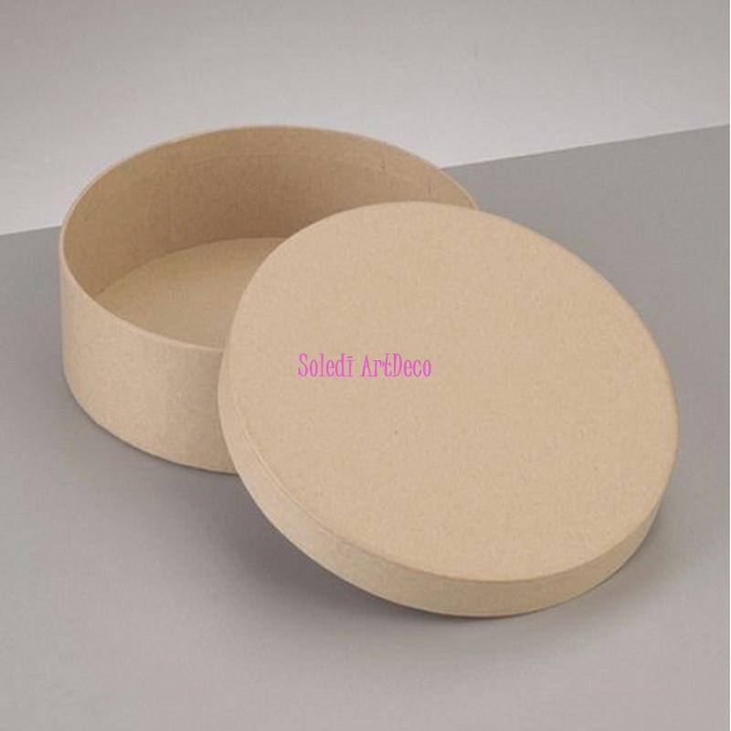 bo te ronde haute avec couvercle en carton diam 12 5cm x haut 7cm d corer boite en. Black Bedroom Furniture Sets. Home Design Ideas