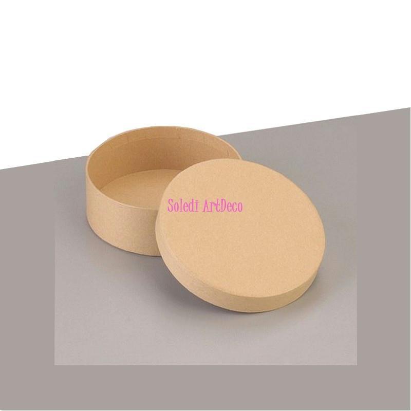 petite boite ronde haute avec couvercle en carton diam 8 5cm x haut 5cm d corer boite en. Black Bedroom Furniture Sets. Home Design Ideas