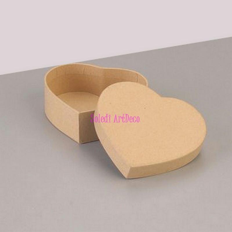 grande boite haute forme coeur avec couvercle en carton 16 5x14cm x haut 8cm d co boite. Black Bedroom Furniture Sets. Home Design Ideas