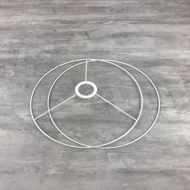 set d 39 ossature de diam tre 30cm pour abat jour anneaux ronds en epoxy blanc pour douille diam. Black Bedroom Furniture Sets. Home Design Ideas
