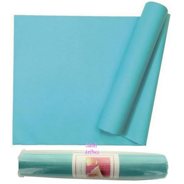 Chemin de table non Tissé Polyester Couleur Turquoise, Rouleau intissé Larg. 29cm, Longueur 10mètres - Photo n°1
