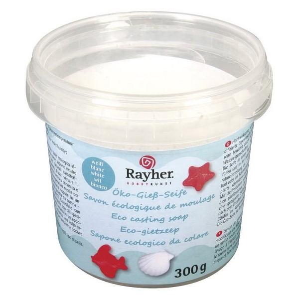 Pot de Savon naturel glycérine blanc, 300 gr, Savon écologique de moulage - Photo n°1
