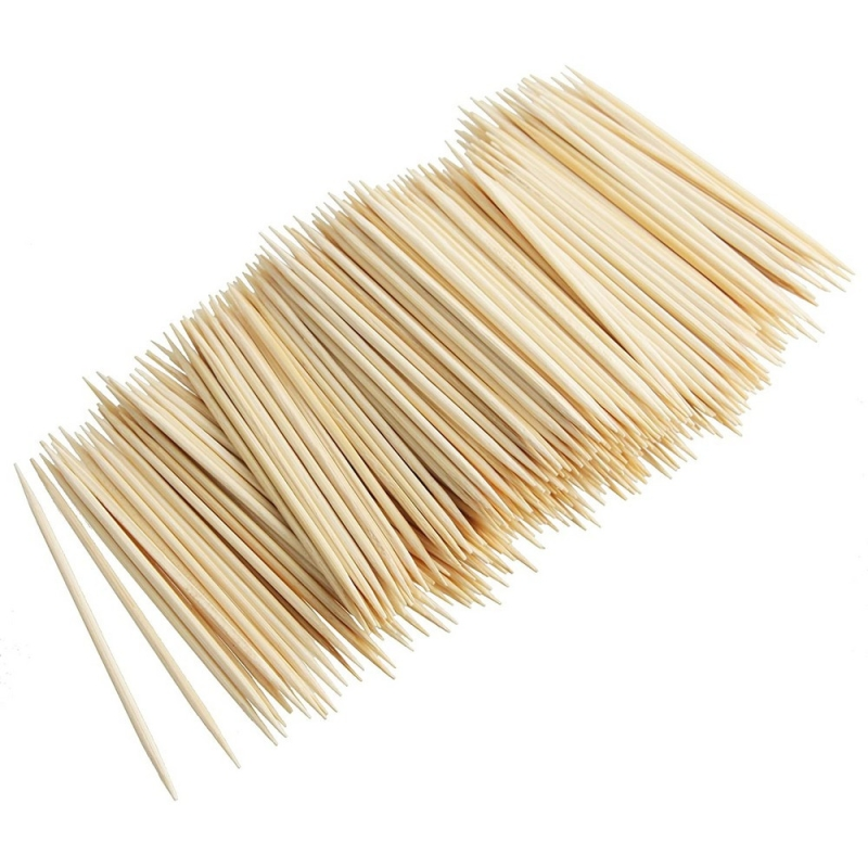 Lot de 1000 cure dents en bois long 68 mm diam 2 mm for Papier collant pour fenetre