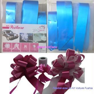 Kit de décoration Mariage festif Bleu Turquoise, 10 Pièces, pr Voiture de Marié