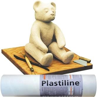 Plastiline Pâte à modeler de précision  1 kg dureté 40 Ivoire