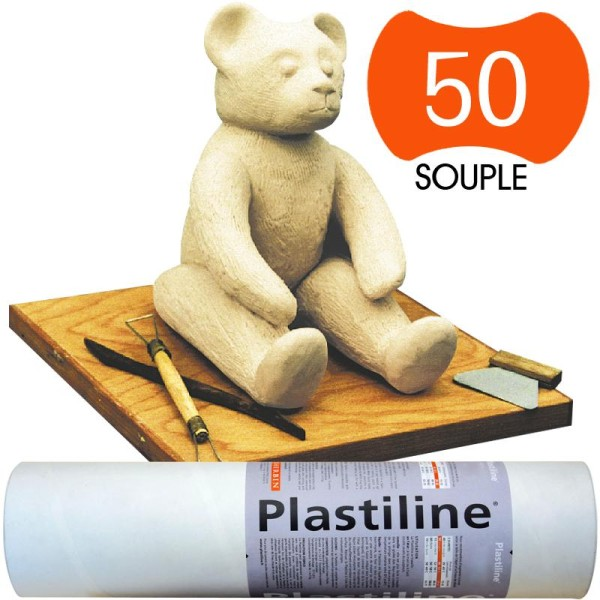 Plastiline Pâte à modeler de précision  1 kg  dureté 50  Ivoire - Photo n°1