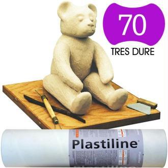 Plastiline Pâte à modeler de précision  1 kg  dureté 70 Ivoire