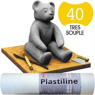 Plastiline Pâte à modeler de précision  1 kg  dureté 40 Gris