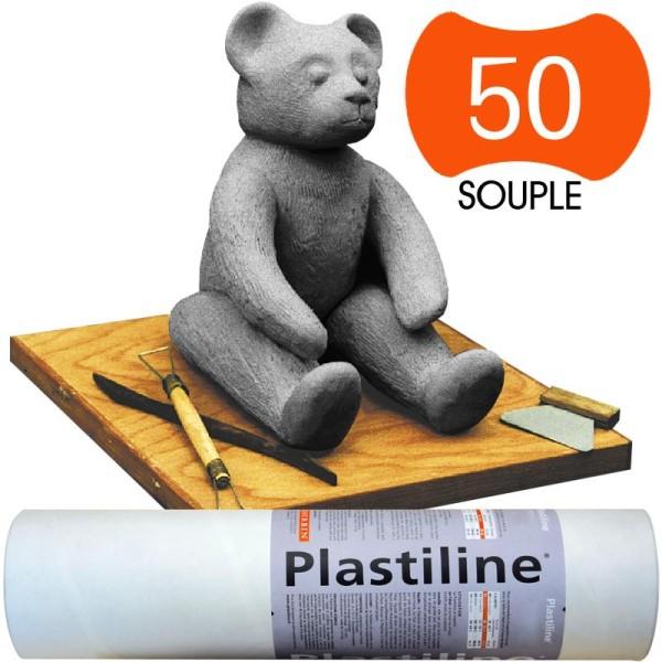 Plastiline Pâte à modeler de précision  1 kg  dureté 50 Gris - Photo n°1