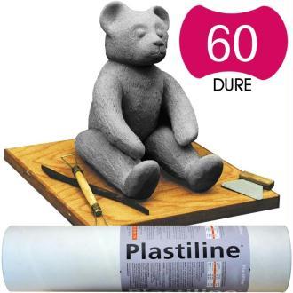 Plastiline Pâte à modeler de précision  1 kg  dureté 60 Gris