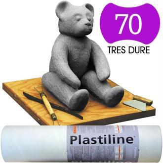 Plastiline Pâte à modeler de précision  1 kg  dureté 70 Gris