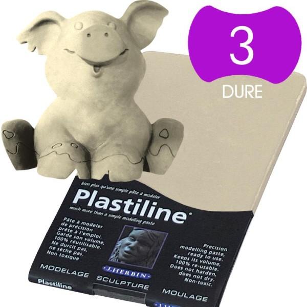 Plastiline Pâte à modeler de précision  750 g  dureté 3 ivoire - Photo n°1