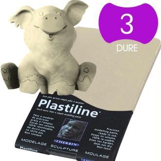 Plastiline Pâte à modeler de précision  750 g  dureté 3 ivoire