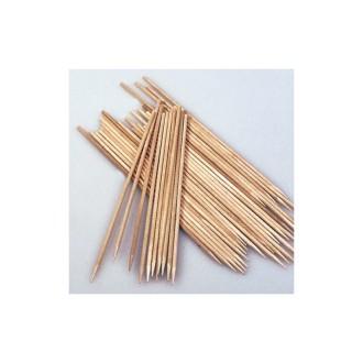 Lot de 10 Baguettes en bois, Pique à brochette de 20 cm de long, diam 3 mm