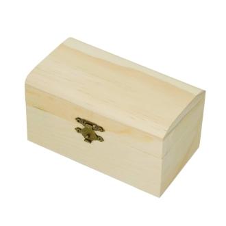 Coffret en bois, couvercle arrondi, 14 cm
