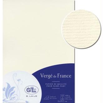 Papier Vergé de France A4 50 Feuilles Blanc