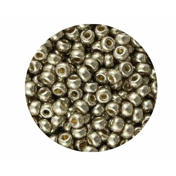 10g Duracoat galvanisé lumière étain 4221 11/0 verre métallique Argent Japonais Miyuki 11/0 perles d - Photo n°1