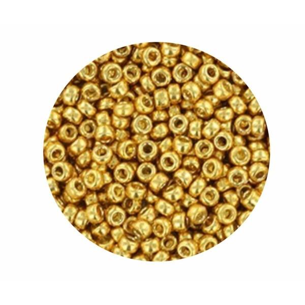 10g Duracoat galvanisé or 4202 8/0 verre métallique Japonais Miyuki 8/0 perles de rocaille rondes 3m - Photo n°1