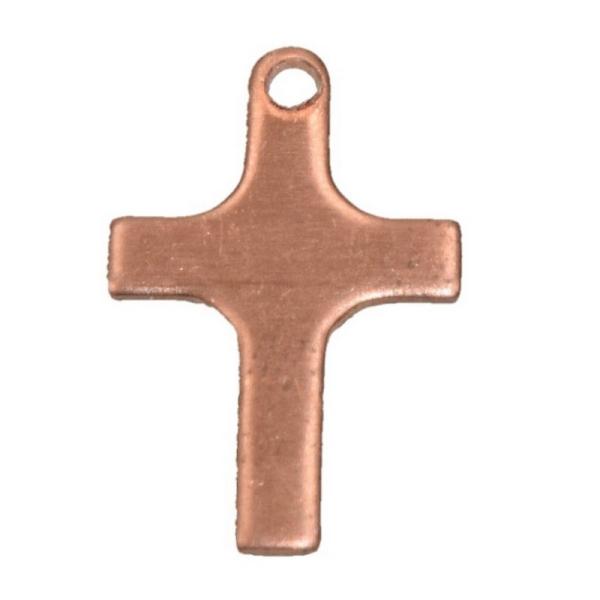 Lot de 10 Pendentifs en cuivre Croix 1 trou, ébauche 21 x 14 mm, émaillage à froid - Photo n°1