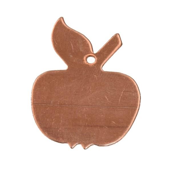 Lot de 10 Pendentifs en cuivre Pomme, 1 trou, 30 x 23 mm, ébauche pour émaillage - Photo n°1