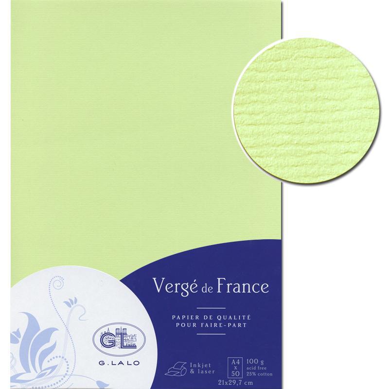 papier verg de france a4 50 feuilles pistache carterie cr ative creavea. Black Bedroom Furniture Sets. Home Design Ideas