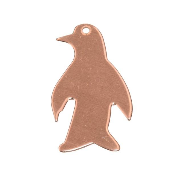 Lot de 10 Pendentifs en cuivre Pingouin, 1 trou, 33 x 20 mm, ébauche pour émaillage - Photo n°1