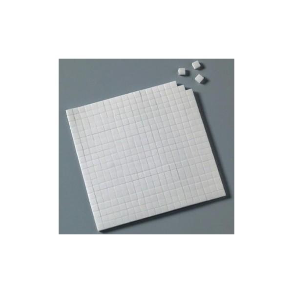 Pastilles carrées adhésives 3D 5 x 5 x 3 mm, 560 pièces - Photo n°1