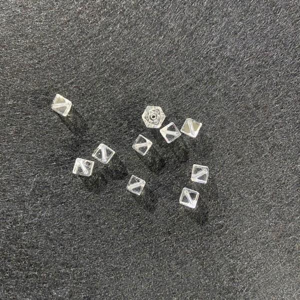 Dix perles en Crystal transparente - Photo n°1