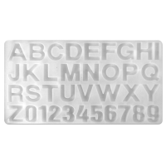 Moule en silicone - Alphabet - 35,5 x 19,5 cm - 1 pce