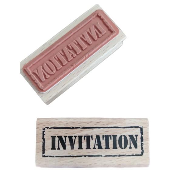 Tampon créatif en bois - invitation - Photo n°2