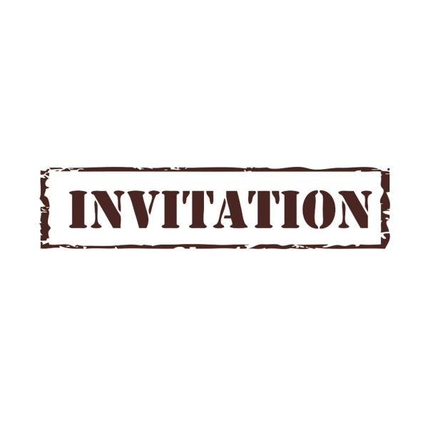 Tampon créatif en bois - invitation - Photo n°1