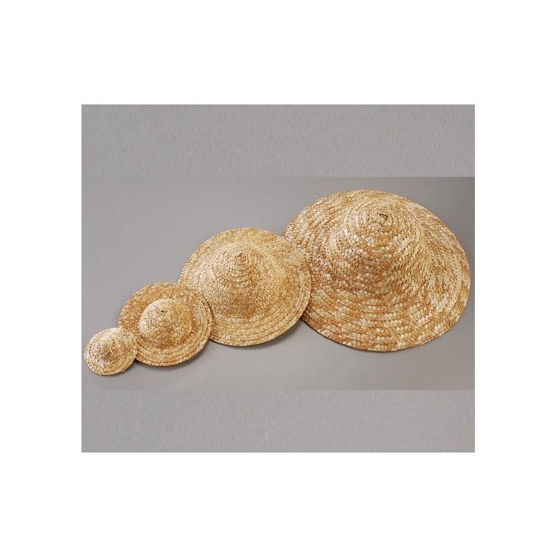 Chapeau d coratif en paille diam tre ext rieur 6 5 cm for Diametre interieur