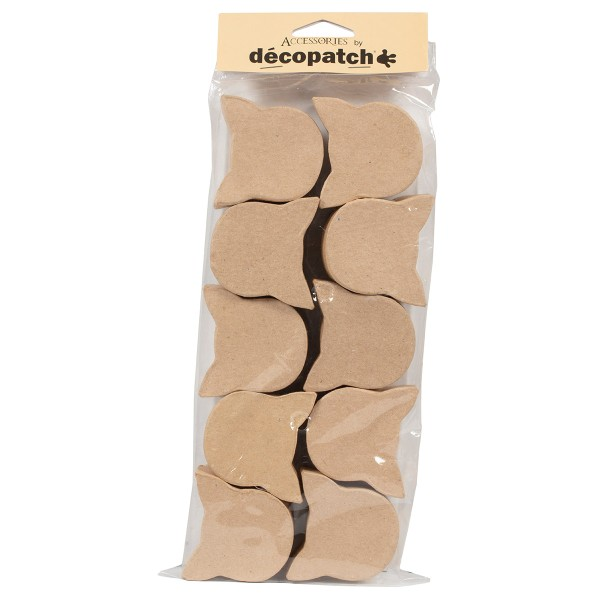 Lot de mini boîtes en papier mâché - Chat - 5 x 6 cm - 10 pcs - Photo n°1