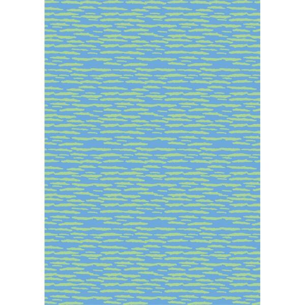 Décopatch n°836 - Rayures Vert / Bleu - 1 feuille - Photo n°1