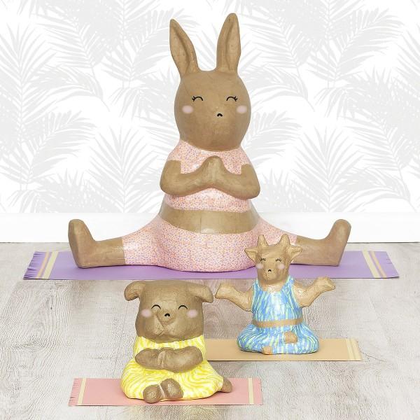 Vache Yoga en papier mâché - 16 x 15 x 9 cm - Photo n°3