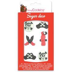 Décoration en sucre - Pirate - 6 pcs