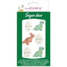 Décoration en sucre - Dinosaure - 6 pcs