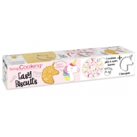 Kit Easy Biscuits pâte à sucre - Licorne - 12 biscuits