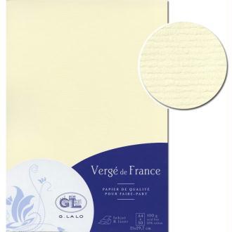 Papier Vergé de France A4 50 Feuilles Ivoire