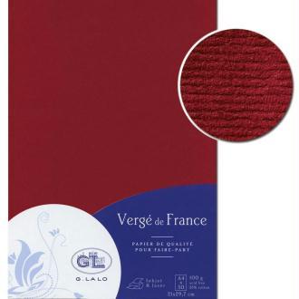 Papier Vergé de France A4 50 Feuilles Bordeaux