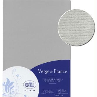 Papier Vergé de France A4 50 Feuilles Gris souris