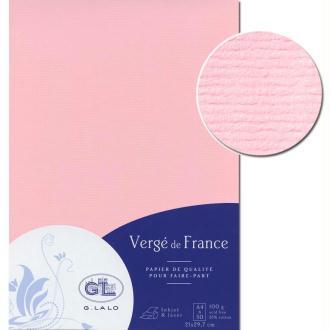 Papier Vergé de France A4 50 Feuilles Eglantine