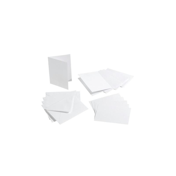 Lot de 5 Cartes double rectangulaires et enveloppes, Format A6, 10,5 cm x 15 cm - Photo n°1