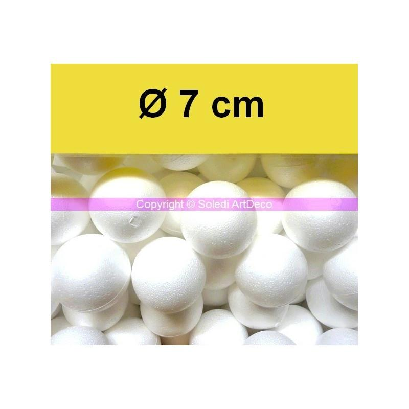 lot de 20 boules polystyr ne styropor diam 7 cm 70mm boules polystyr ne creavea. Black Bedroom Furniture Sets. Home Design Ideas