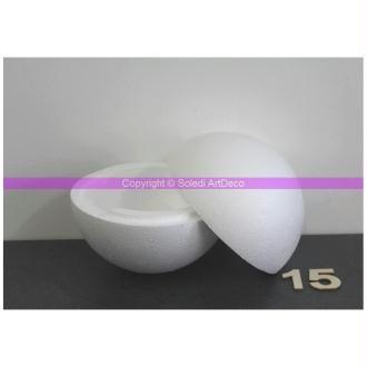 Lot de 3 grandes boules polystyrène Styropor diam 12 cm//120 mm