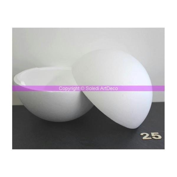 Boule polystyrène Styropor séparable, diam 25 cm/250 mm, densité pro - Photo n°1