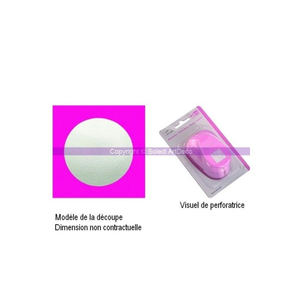 Perforatrice motif Cercle, dimension 3,3 cm - Photo n°1