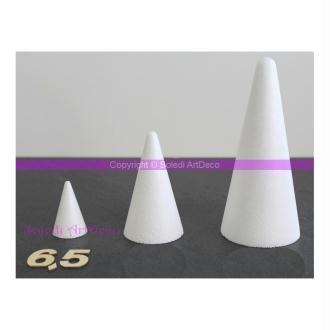 Cône polystyrène, hauteur 6,5 cm - 65 mm, densité supérieure