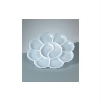 Palette de mélange pour peintre, 9-10 compartiments, Diam. 13,5 cm