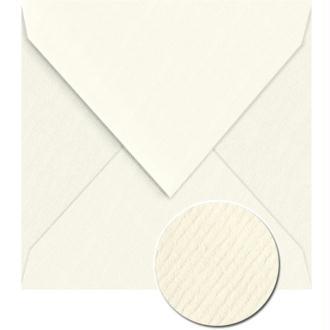 Enveloppe doublée Vergé de France 140 x 140 Blanc x 25